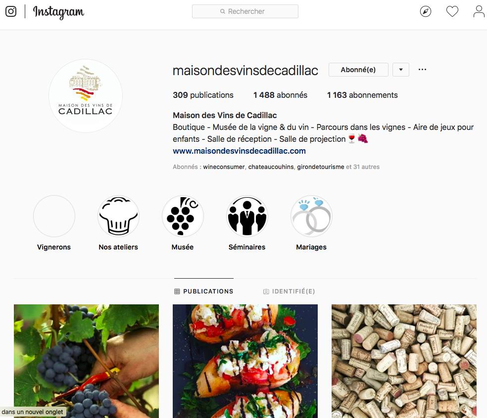 instagram maison des vins cadillac